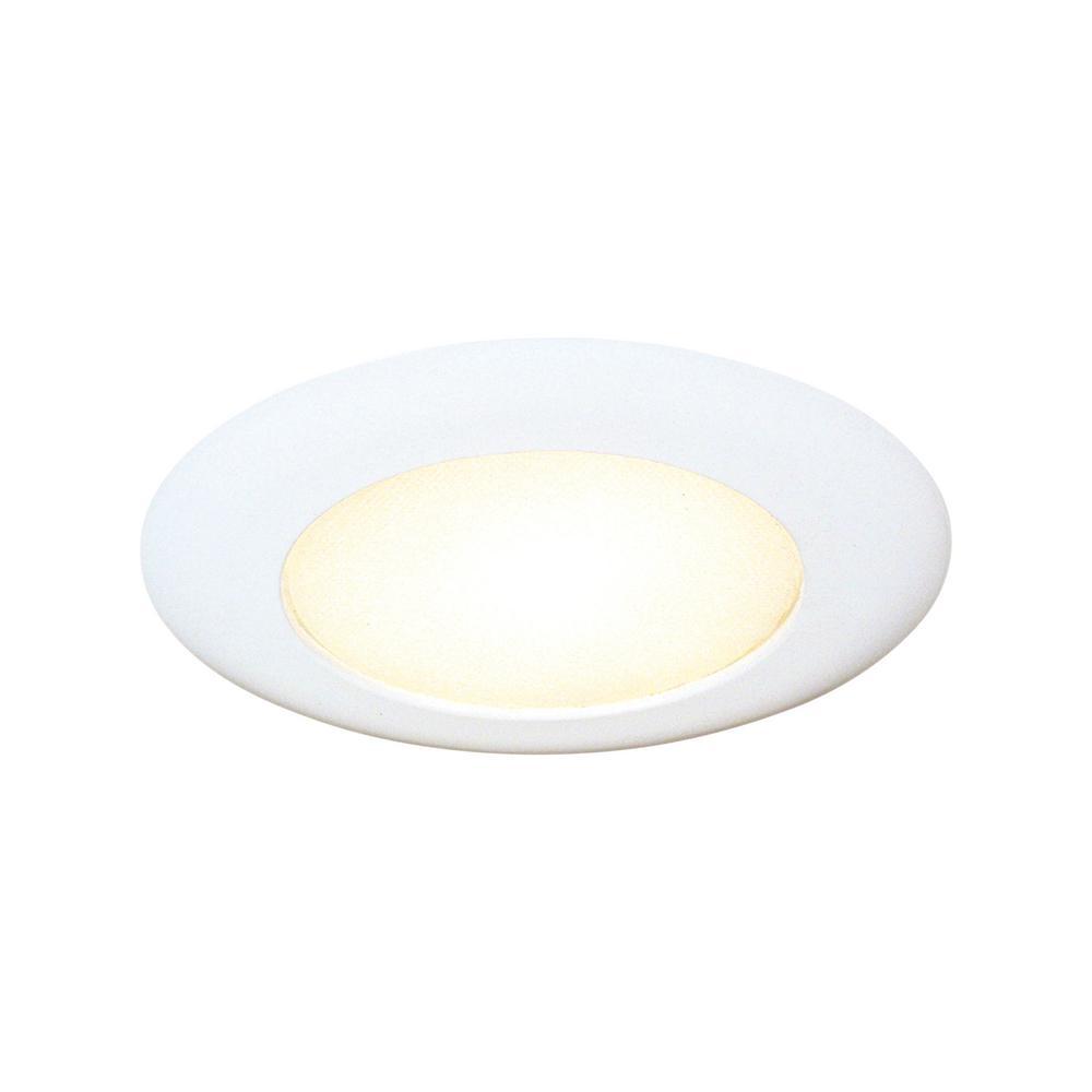 Thomas Lighting 6 In White Albalite Shower Recessed Trim