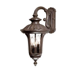 Acclaim Lighting Augusta Collection 3-Light Burled Walnut Outdoor Wall-Mount Light Fixture by