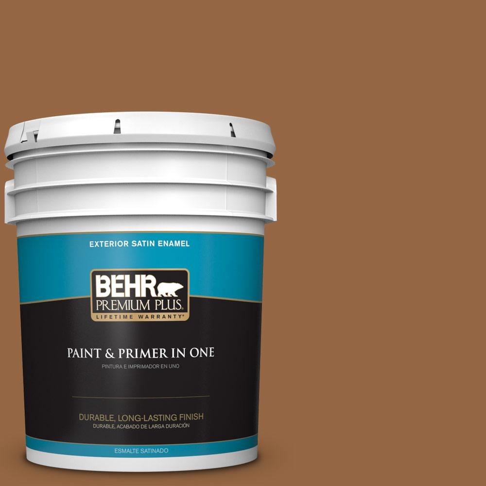 5 gal. #MQ2-6 Gilded Glamour Satin Enamel Exterior Paint and Primer