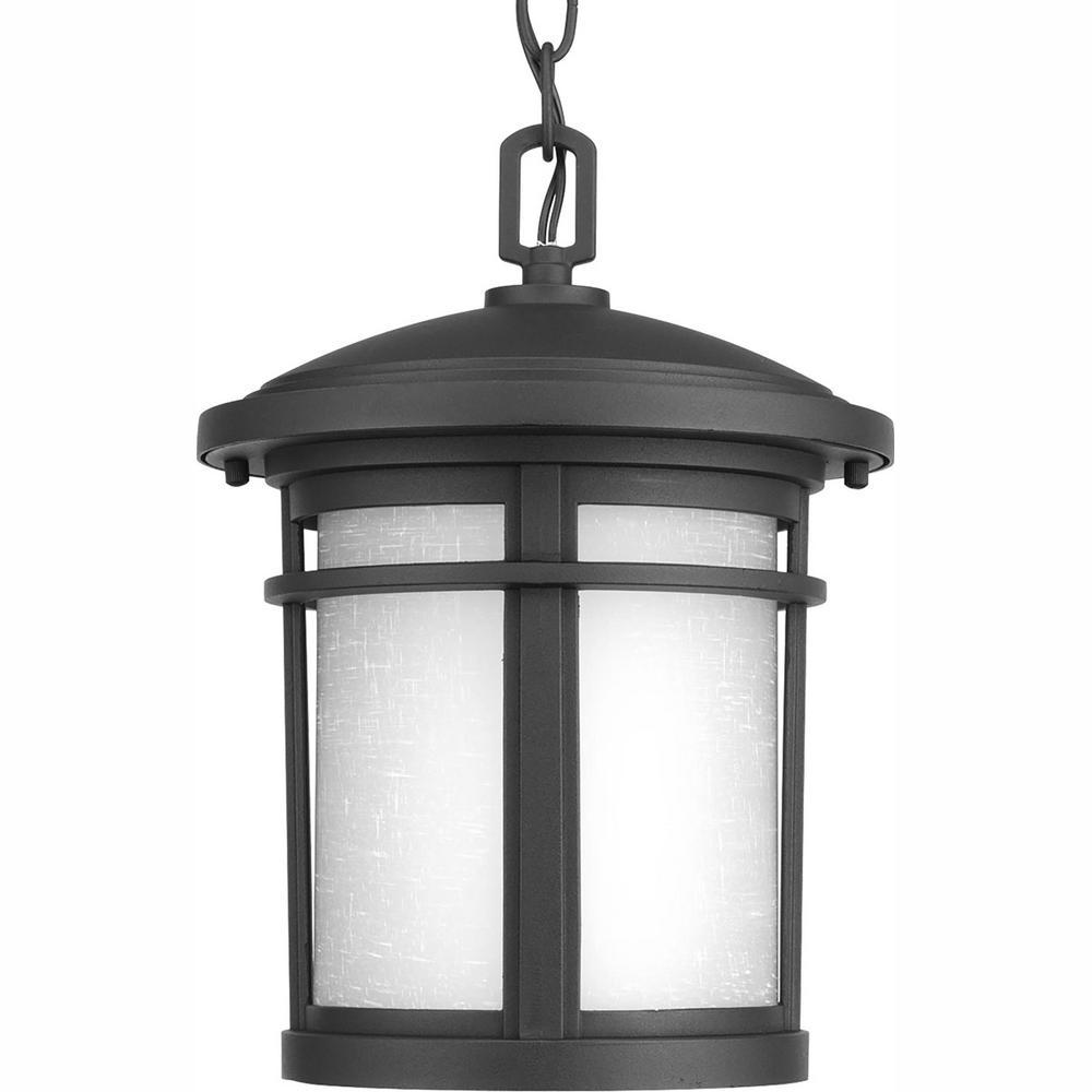 Progress Lighting Wish Collection 1-Light Outdoor Textured Black LED Hanging Lantern was $99.97 now $43.2 (57.0% off)