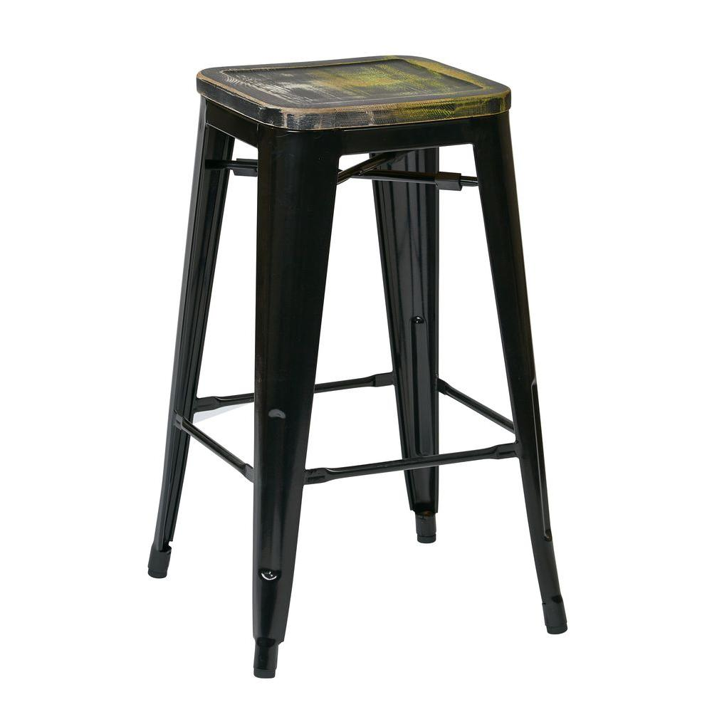 Bristow 26 in. Black Bar Stool (Set of 4)
