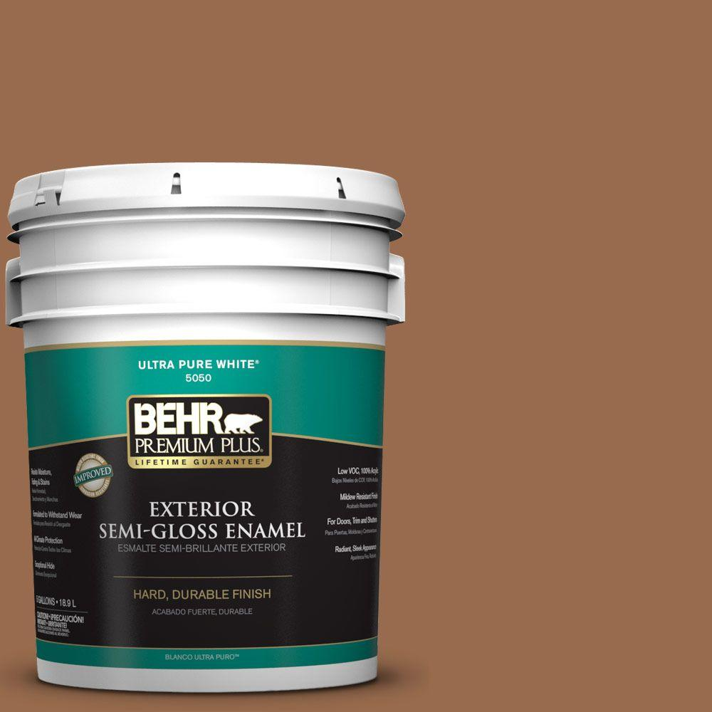 5-gal. #S230-7 Toasted Bagel Semi-Gloss Enamel Exterior Paint