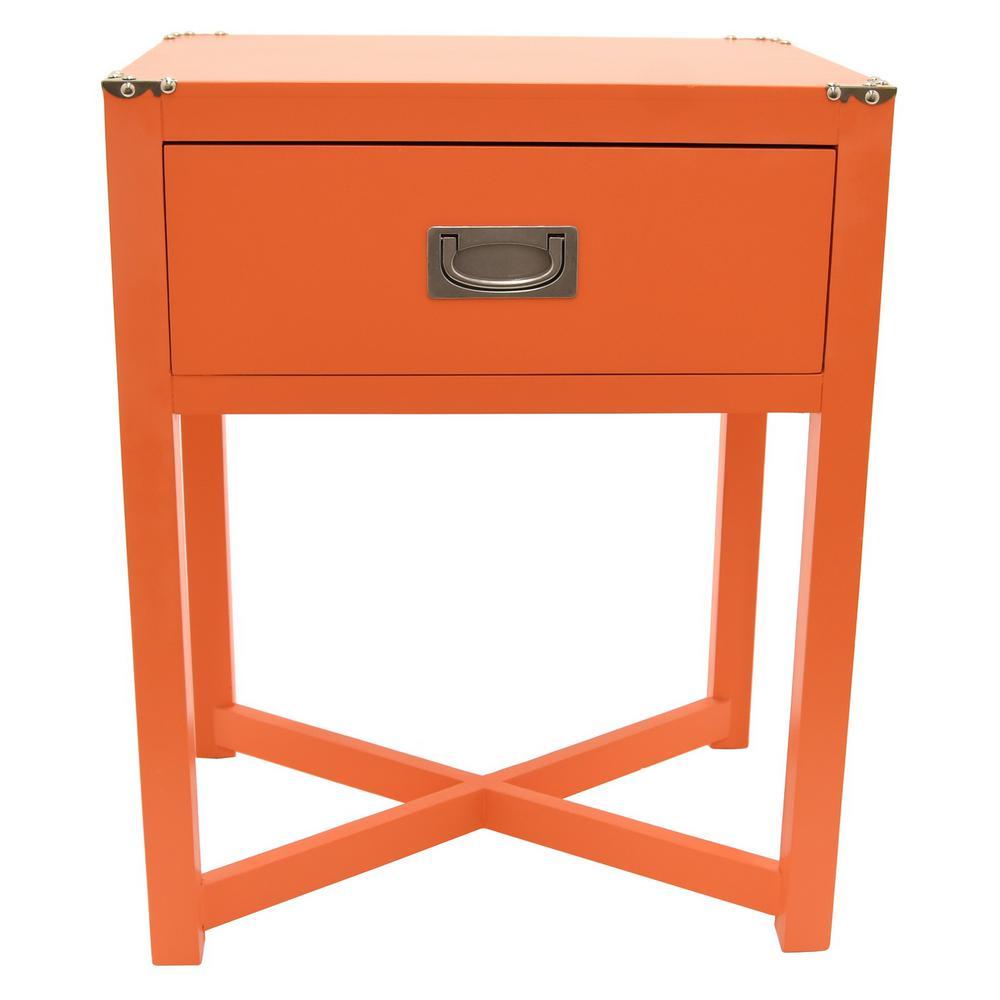 18.75 in. x 13.5 in. Orange Side Table