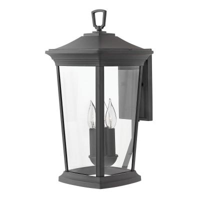 Bromley Large Museum Black 3-Light Outdoor Wall Lantern Sconce