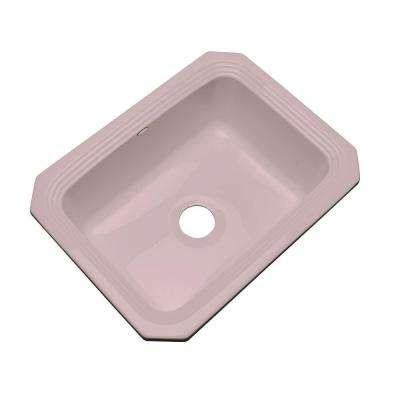 Rochester Undermount Acrylic 25 in. Single Basin Kitchen Sink in Wild Rose