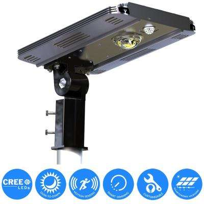 Solar outdoor security lighting outdoor lighting the home depot solar power smart led street light for commercial and residential parking lots bike paths workwithnaturefo