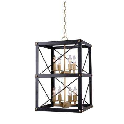 Courtney 8-Light Black and Gold Chandelier