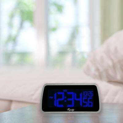 Digital 6 x 4 in. LCD Interchangeable Color Display Alarm Clock