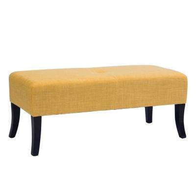 Antonio 46 in. Wide Bench in Yellow Fabric