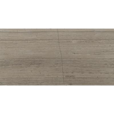 Gray Oak 12 in. x 24 in. Honed Marble Floor and Wall Tile (10 sq. ft. / case)