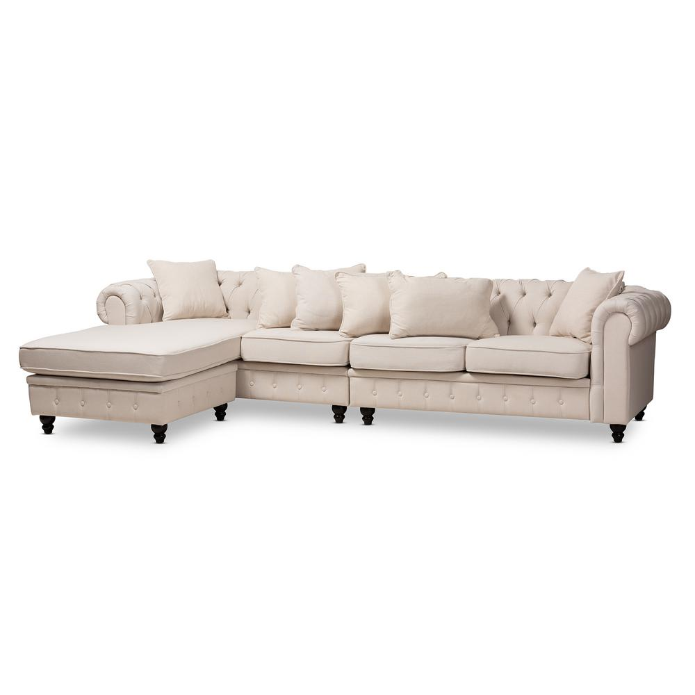 Luisa Beige Fabric Sectional