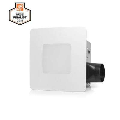 110 CFM Easy Installation Bathroom Exhaust Fan with LED Lighting