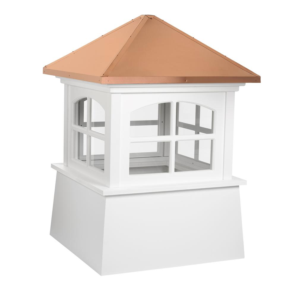 Good Directions Huntington 36 in. x 49 in. Vinyl Cupola with Copper Roof