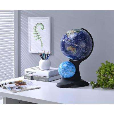 17.5 in. Dual Globe with Constellation on Black Acrylic Base