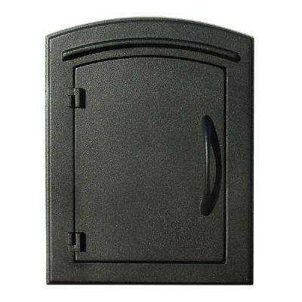 Manchester Lockable Column-Mount Mailbox with Plain Door Faceplate