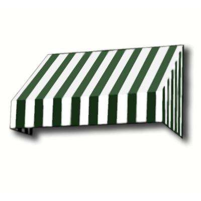 6 ft. New Yorker Window Awning (44 in. H x 24 in. D) in Forest/White Stripe