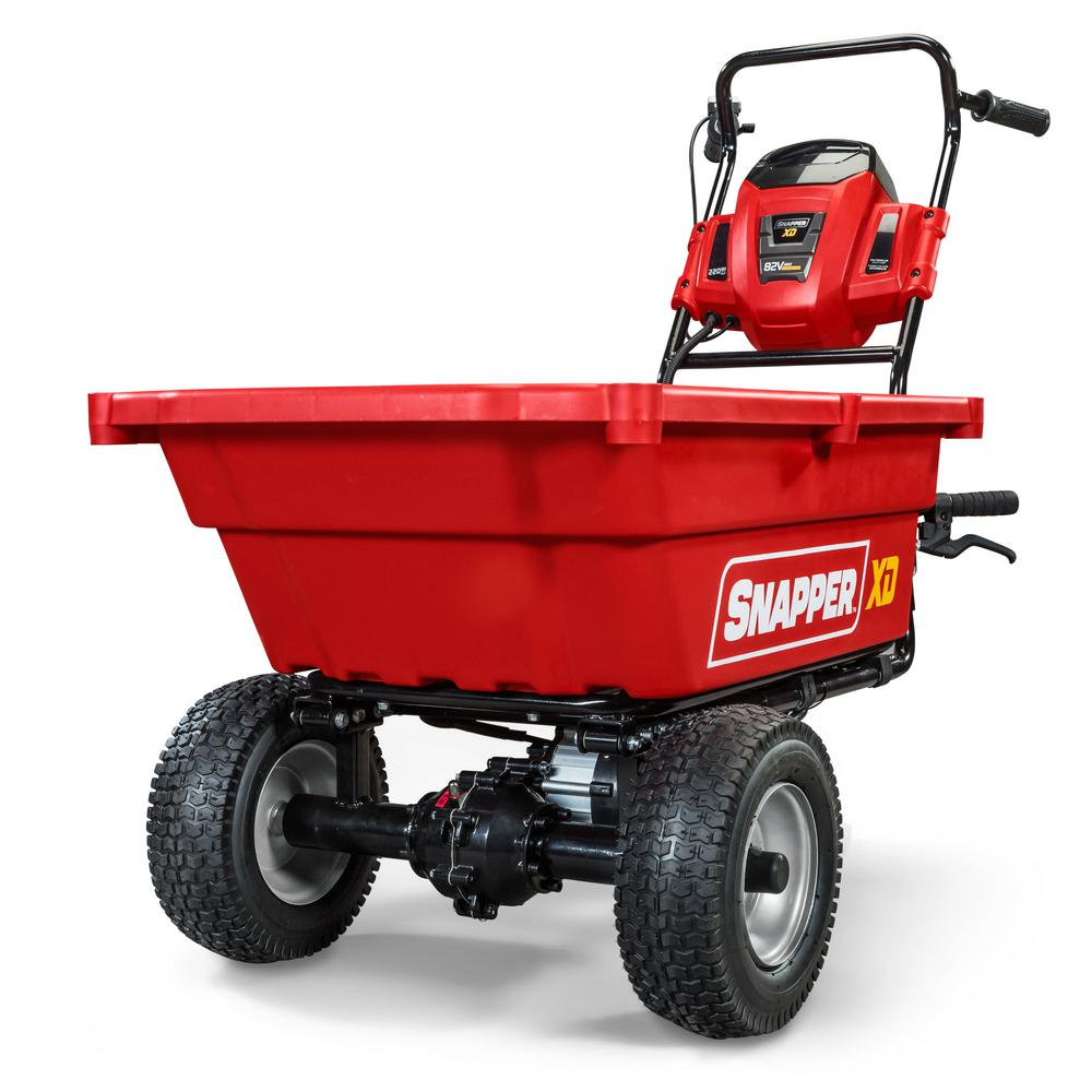 Snapper XD 82-Volt MAX Cordless Electric Self-Propelled Utility Cart with 3.7 cu. ft. Cargo Bed, Battery & Charger Not Included