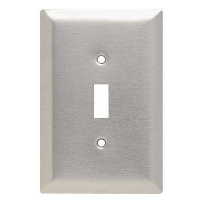 302 Series 1 Gang Jumbo Toggle Wall Plate in Stainless Steel