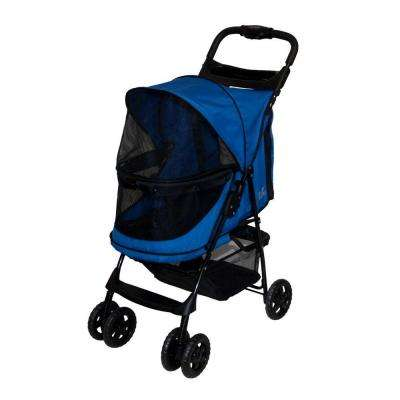 24 in. L x 12 in. W x 22 in. H Happy Trails No-Zip Stroller in Sapphire