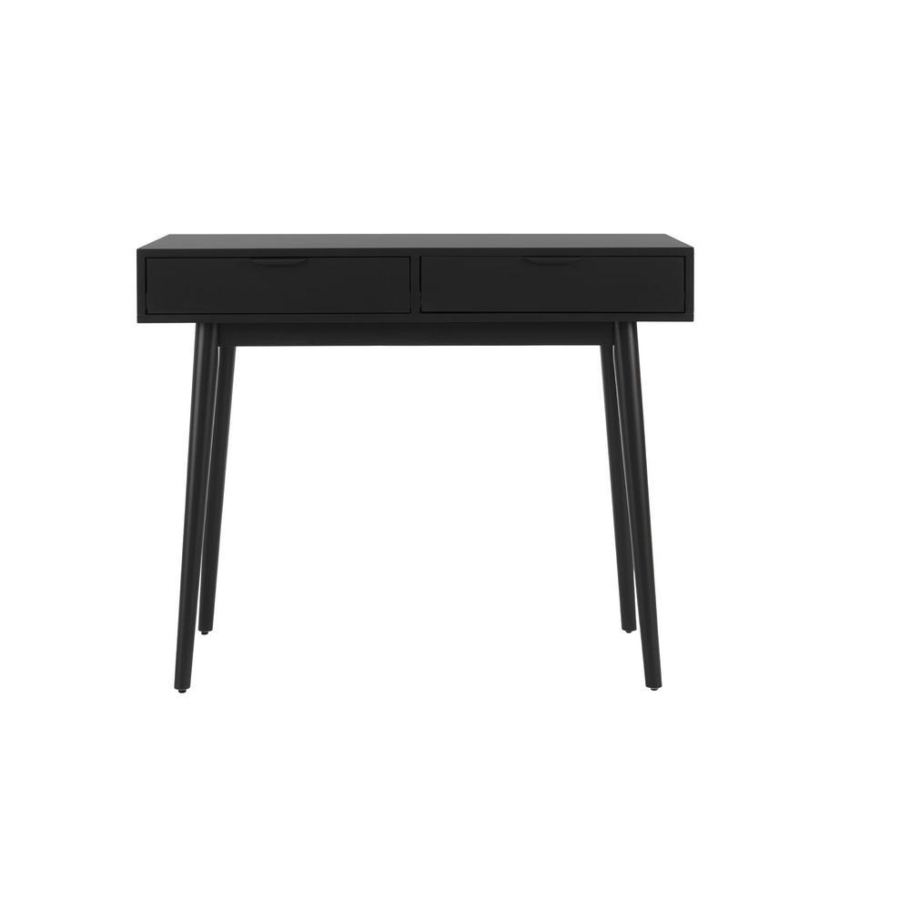 Amerlin Black Wood Vanity Desk (39.37 in W. X 31.50 in H.)