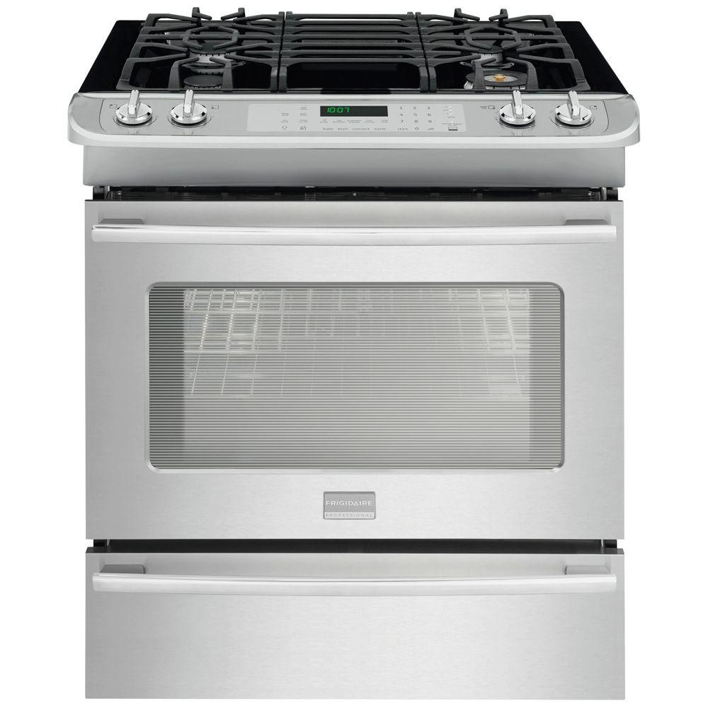Frigidaire Professional 4.6 cu. ft. Slide-In Gas Range with Self-Cleaning Convection Oven in Stainless Steel