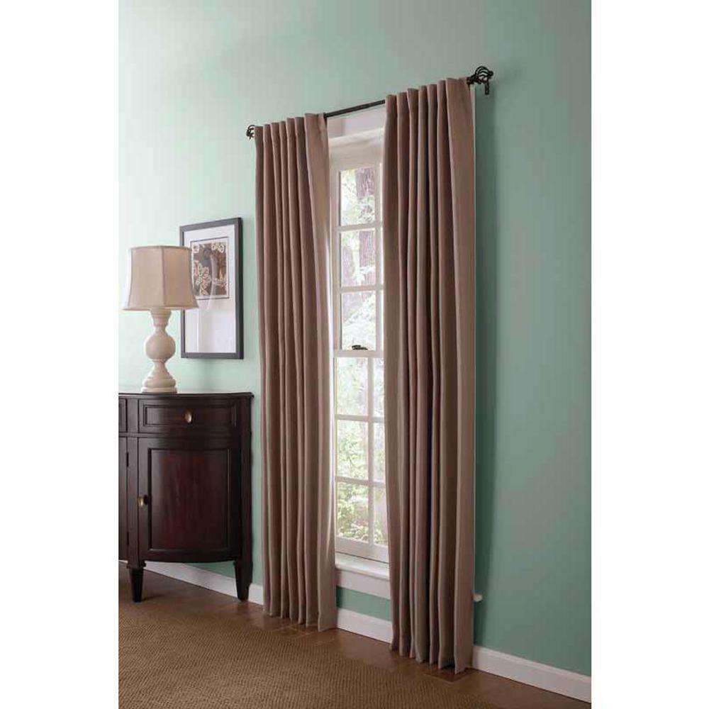 Semi-Opaque Brook Trout Faux Silk Room Darkening Back Tab Curtain