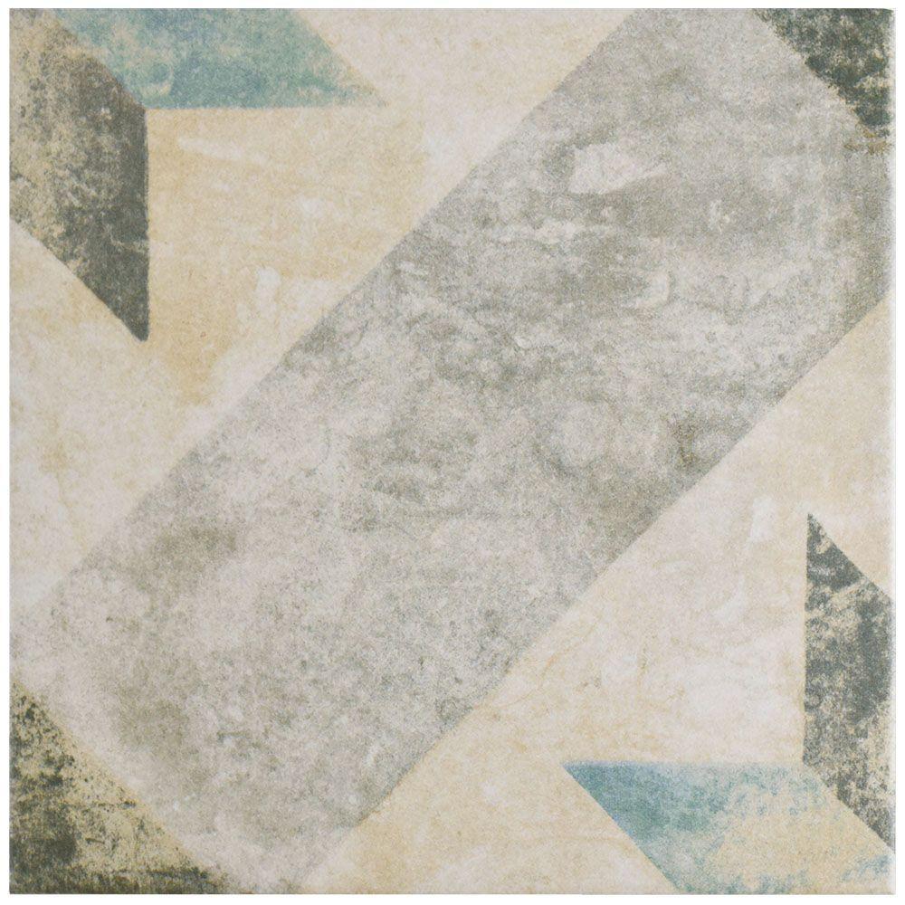 Merola Tile Pompei Star Blue 9 3 4 In X