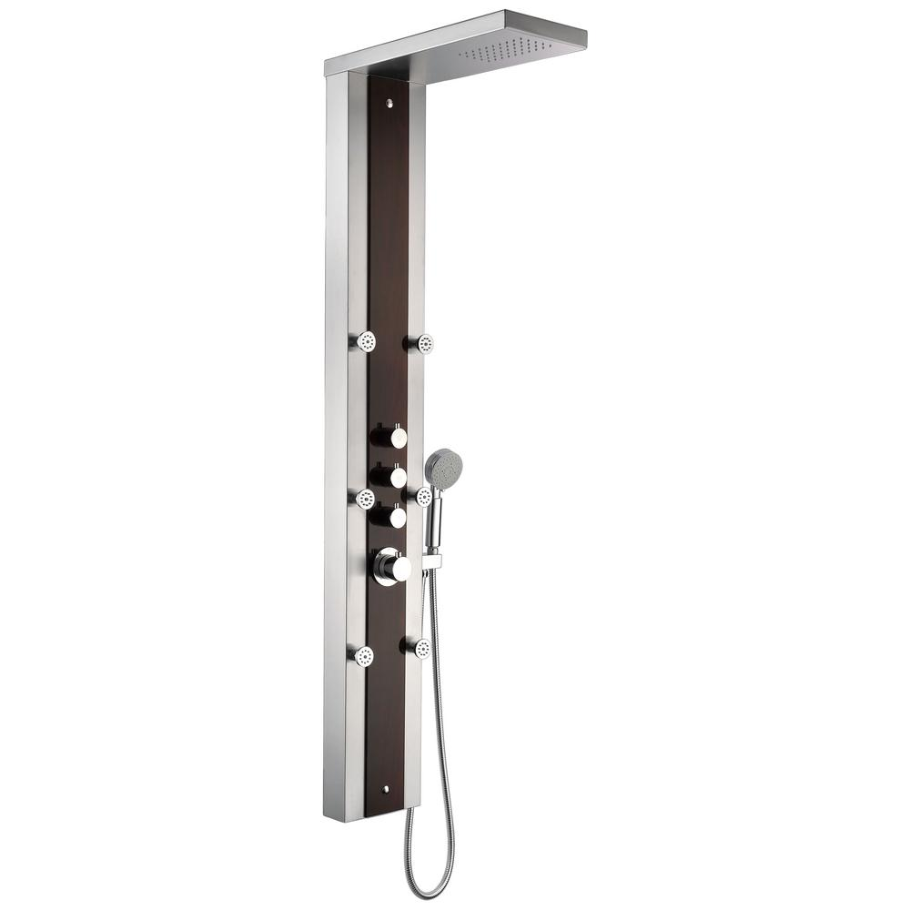 Kiki 59 in. 6-Jetted Full Body Shower Panel System with Heavy