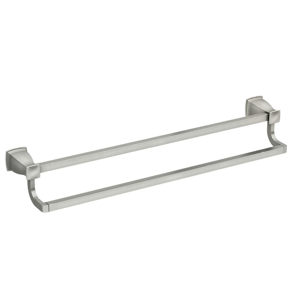 Hensley 24 in. Double Towel Bar with Press and Mark in