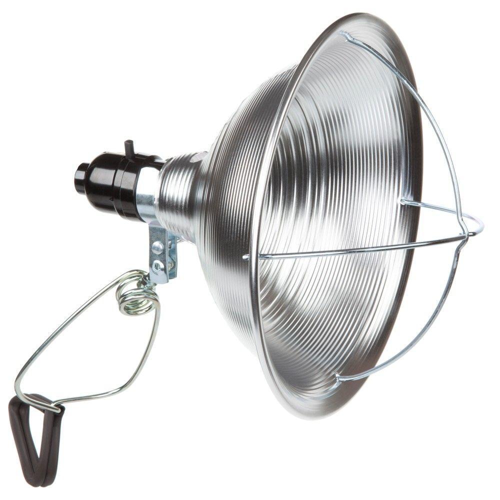 8-1/2 in. 125-Watt Incandescent Aluminum Heat Clamp Light