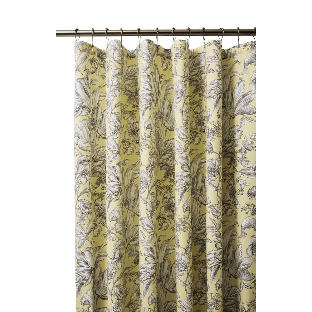 Home Decorators Collection Lillian 72 In Butter Shower Curtain 9936000520 The Home Depot