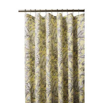 Lillian 72 in. Butter Shower Curtain