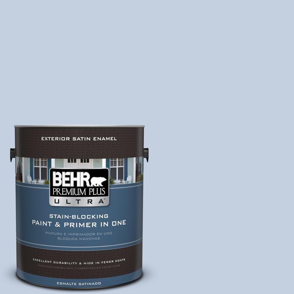 BEHR Premium Plus Ultra 1-gal. #S530-1 Soaring Sky Satin Enamel Exterior Paint