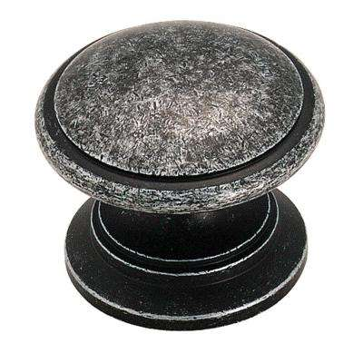 1-1/4 in. Wrought Iron Dark Cabinet Knob