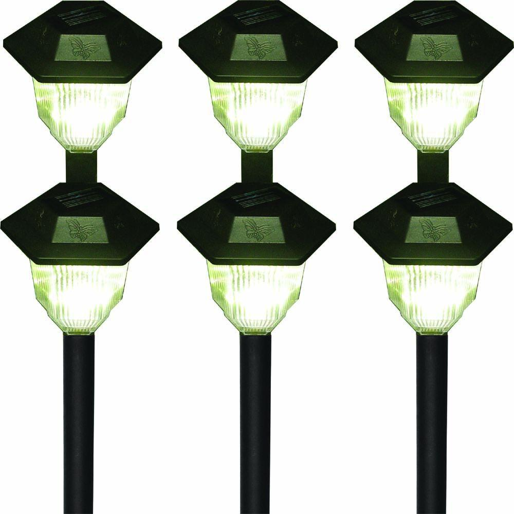HomeBrite Solar Carriage Outdoor Black LED Solar Lights (6-Pack) -DISCONTINUED