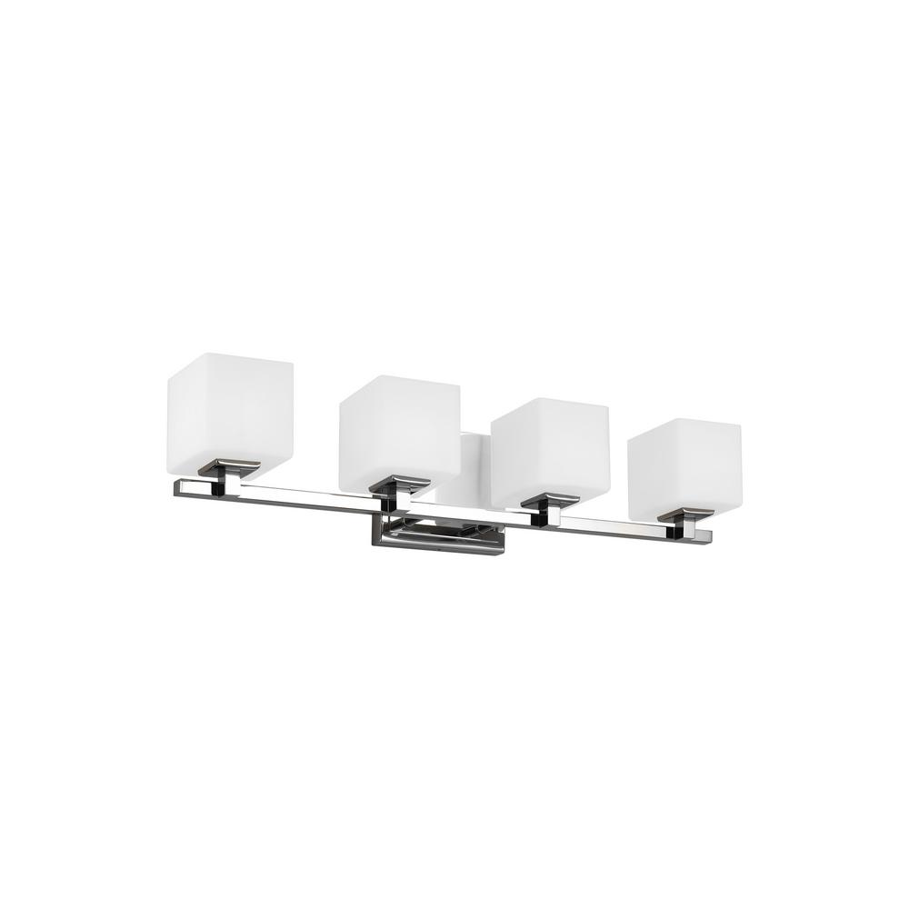 Feiss Sutton 28 in. 4-Light Chrome Vanity Light with Opal Etched Glass Shades was $383.9 now $287.93 (25.0% off)