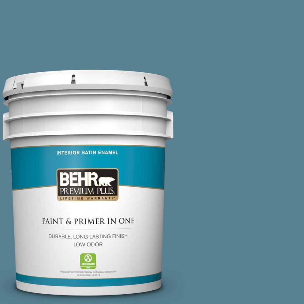 5 gal. #S470-5 Blueprint Satin Enamel Low Odor Interior Paint and