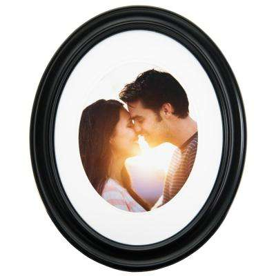 1-Opening 11 in. x 14 in Matted to 8 in. x 10 in. Oval Picture Frame