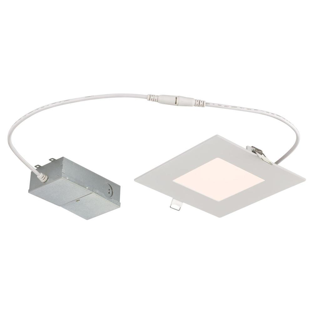 Westinghouse Slim Square 6 In 4000k Cool White New Construction Remodel Ic Rated Recessed Integrated Led Kit