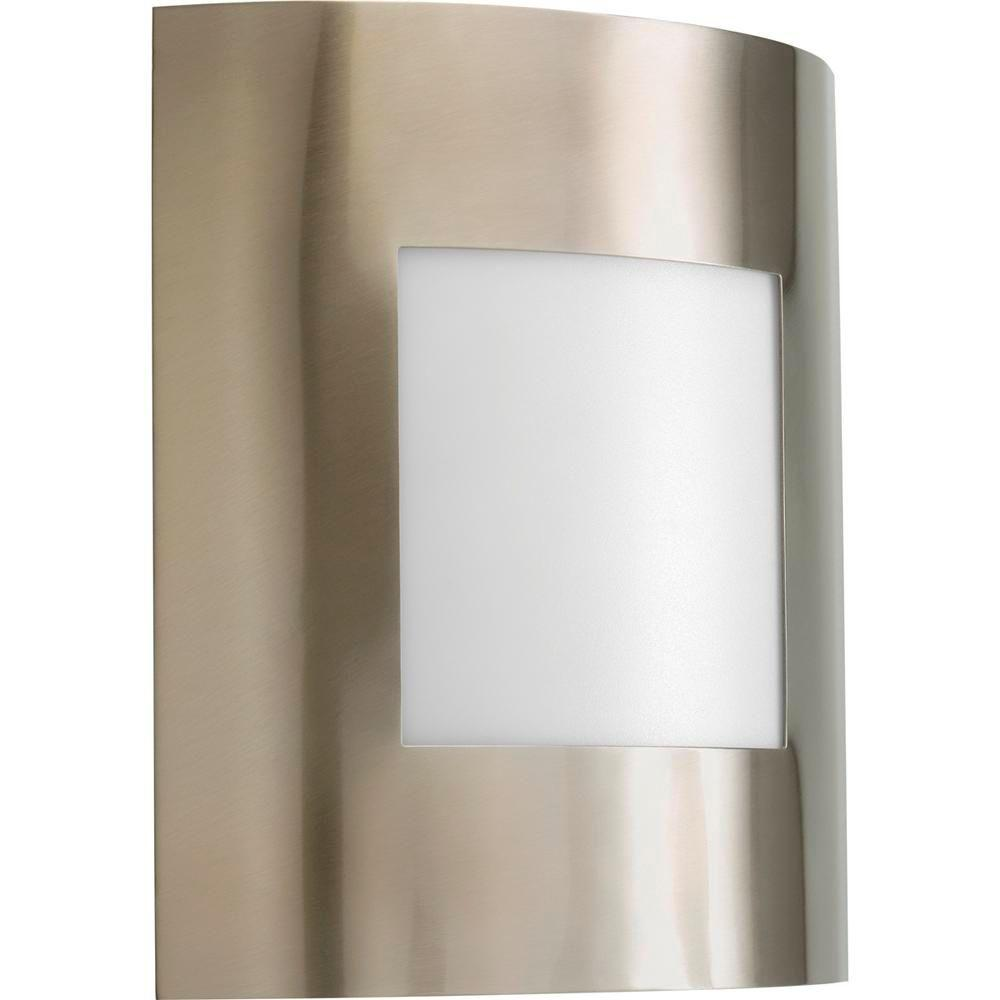 Anson Collection 1-Light Outdoor Brushed Nickel Wall Lantern