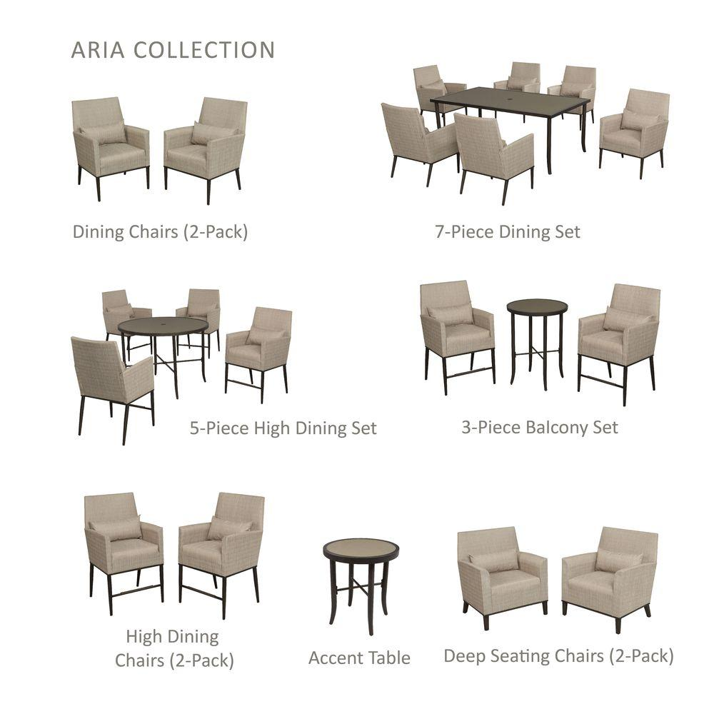 Hampton Bay Aria Patio Side Table