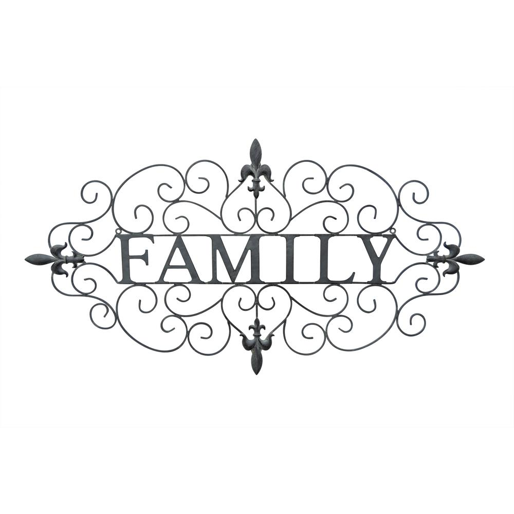 Three Hands Metal Family Wall Decor