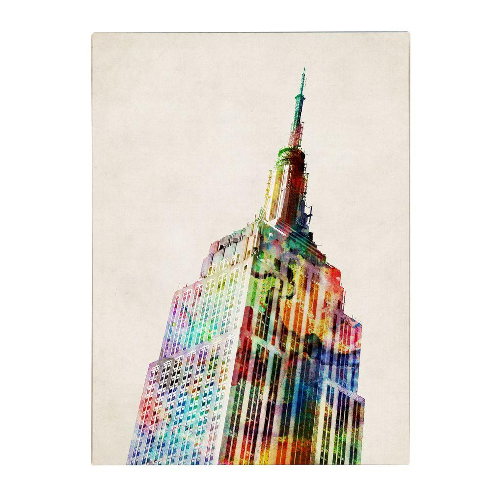 19 in. x 14 in. Empire State Canvas Art