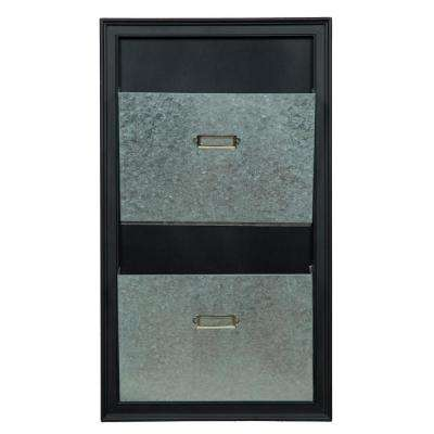 Gallery Metal Silver and Black Wall Mailbox