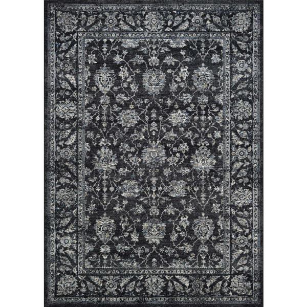 Couristan Sultan Treasures All Over Mashhad Black 4 Ft X 5 Ft Area Rug 71423636311053t The Home Depot