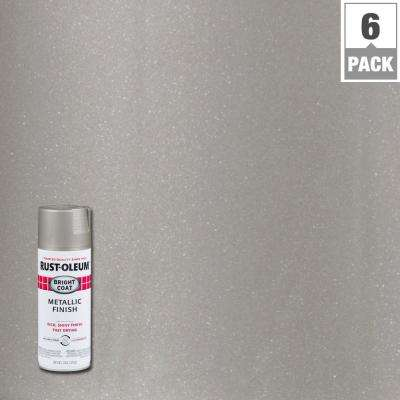11 oz. Aluminum Bright Coat Metallic Spray Paint (6-Pack)