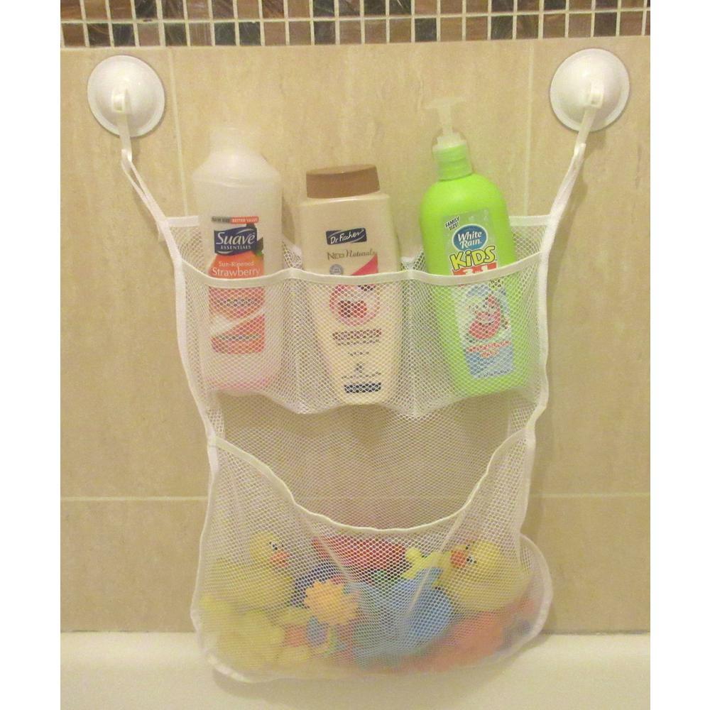 Bathtub Toy Organizer Kids Bath Toy Organizer with Secure Loop /& 2 Suction Cup Hooks Bath Net for Bathtub Toys and Bathroom Storage OWL