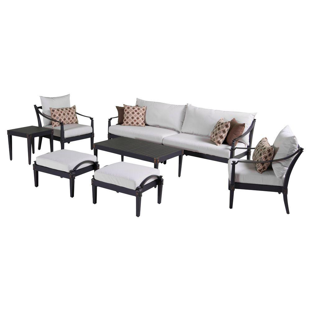 Sofa Club Chair Deep Seating Group Cream Cushions