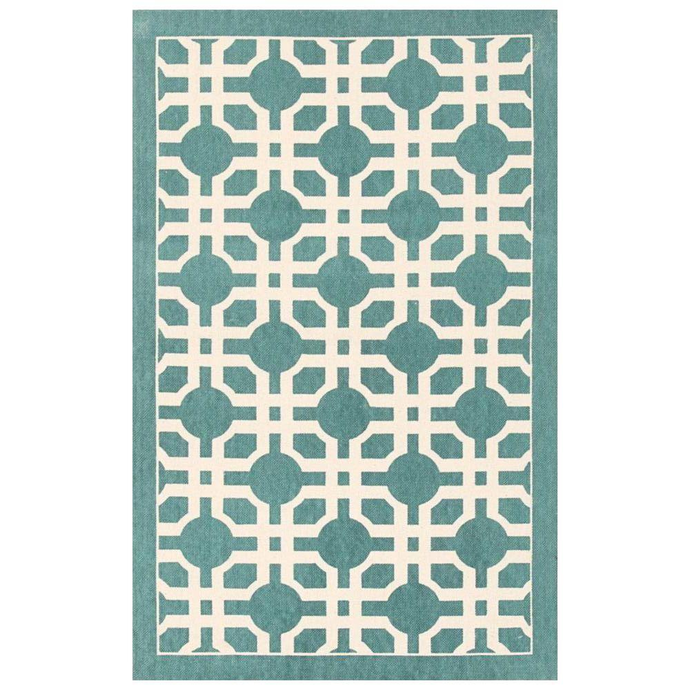 Art House Teal 2 ft. 3 in. x 3 ft. 9