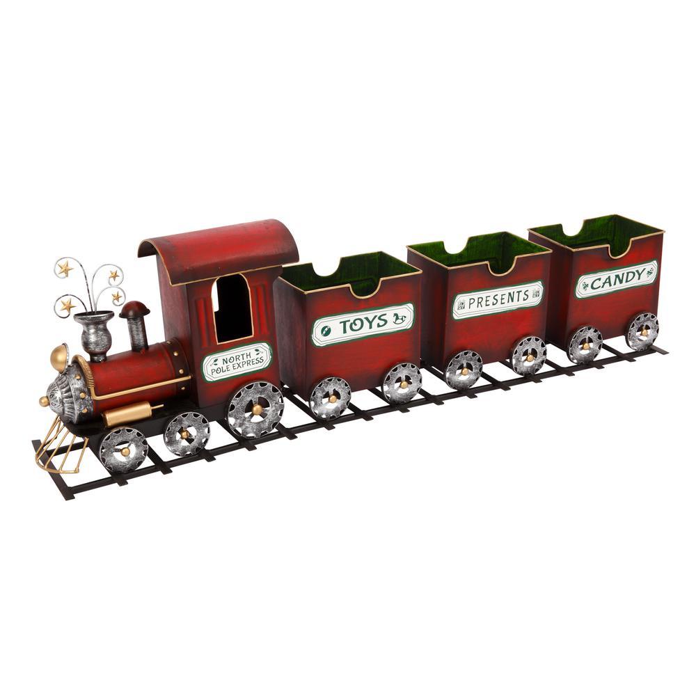 37.5 in. L Metal North Pole Train